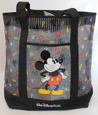 WALT DISNEY WORLD Mickey Mouse Extra Large Beach Shopper Canvas Tote NEW