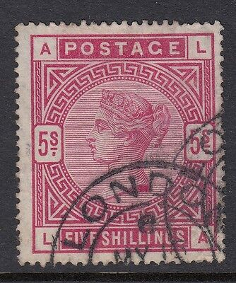 GB STAMPS  QUEEN VICTORIA SG 181 5S CRIMSON FINE USED with London cds