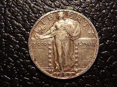 Nice 1929-S Standing Liberty Quarter Choice XF Some Head Detail Visible!