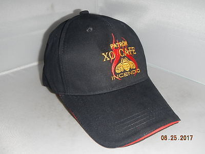Patron XO Cafe Incendio Promo Hat Black Embroidered NEW Liquor Brand Adjustable