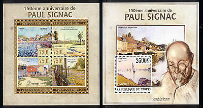 Niger - 2013 two MNH sheets of 4 11821207 Paintings by Signac Lot 38