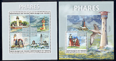 Niger - 2013 two MNH sheets of 4 11871212 Lighthouses Lot 43