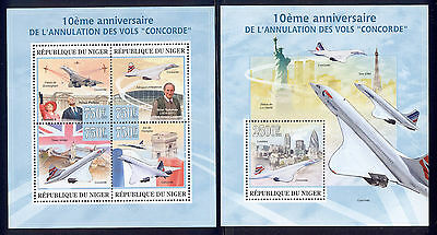 Niger - 2013 two MNH sheets of 4 11881213 Cessation of Concorde flights Lot 44