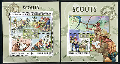 Niger - 2013 two MNH sheets of 4 11961221 Scouting Lot 52
