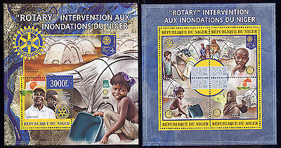 Niger - 2013 two MNH sheets of 4 11971222 Rotary Flood aid to Niger Lot 53
