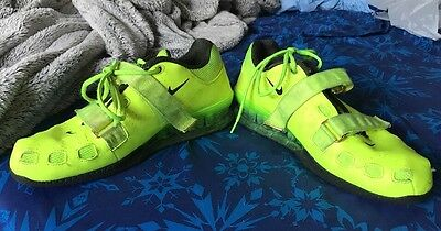 Nike Romaleos 2 Ii Volt Yellow Mens Weightlifting Crossfit Shoes Size 12