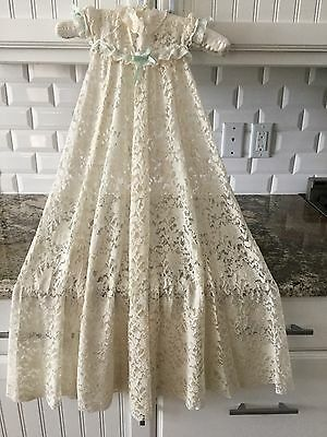 Antique Victorian Lace Baby Christening Gown