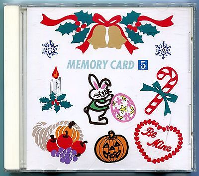 Janome 8000 + 9000 Elna Kenmore Embroidery Memory Card: Holiday Series No. 5