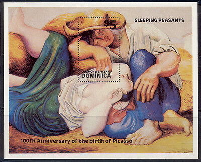 Dominica - 1981 MNH s/s of sleeping peasants by Picasso 743 cv 4.00 Lot # 1