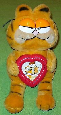 large plush garfield 1981picture perfect picture frame rare cartoons collectible