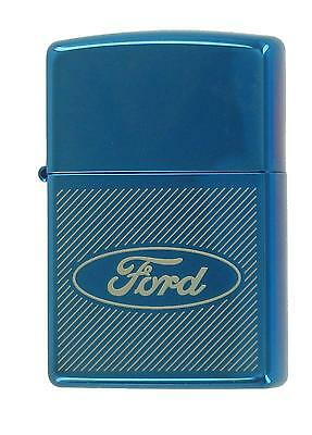 Zippo Lighter, Ford Frosted #20672, Sealed, Sapphire ** NIB ** NOS **