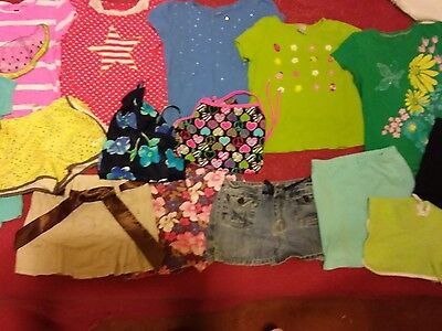 Girls Size 7/8 Summer Clothing Lot  15 Pieces