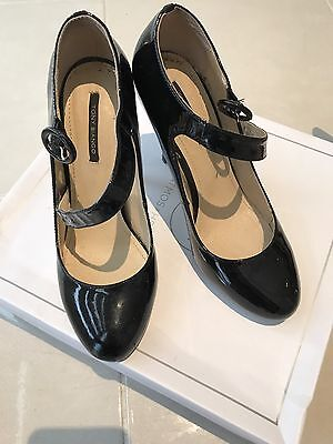 Stunning Tony Bianco Black Leather High Heels 7.5