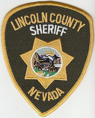 Lincoln County Sheriff Nevada Nv Police Shoulder Patch