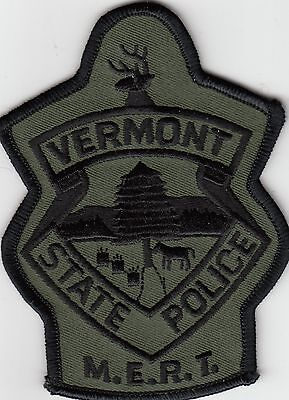 Vermont State Police Subdued M.e.r.t. Shoulder Patch Vt