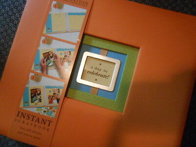 Hallmark A DAY TO CELEBRATE Orange Instant Scrapbook 20 3D Embellished Pages NEW