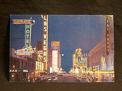 NV Las Vegas Fremont Street Union Pacific Railroad Postcard