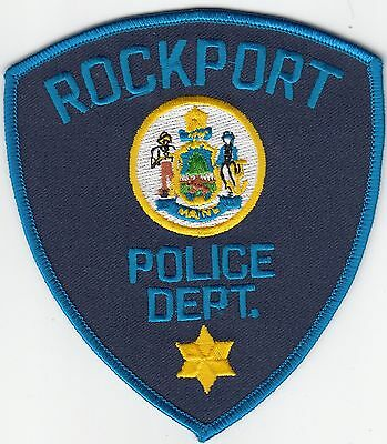 Rockport Police Department Maine Me Shoulder Patch