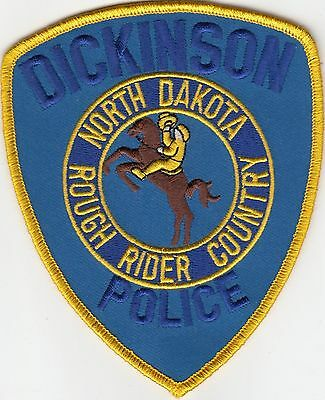 """Dickinson North Dakota Police Patch """"rough Rider Country"""" Nd Db"""
