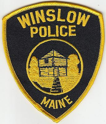 Winslow Police Shoulder Patch Maine Me