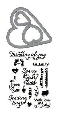 HERO ARTS - Stamp & Cuts - SORRY DC185 - cutting dies & clear cling stamps