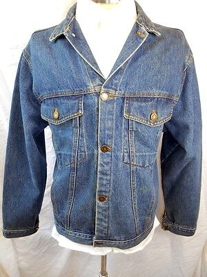 Vintage 70s 80s Ragabout Faded Blue Denim Trucker Style 4-pocket Jacket Medium