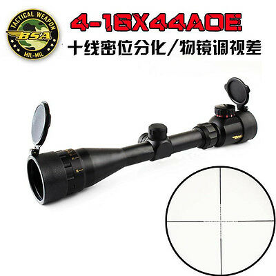 BSA 4-16X44 AOE Tactical Optical Sight Hunting Rifle Scope R&G Illuminated Hot