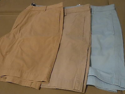Lot of Three Men's Chaps Shorts, Size 40, Used.  Colors- Blue, Gray, Tan