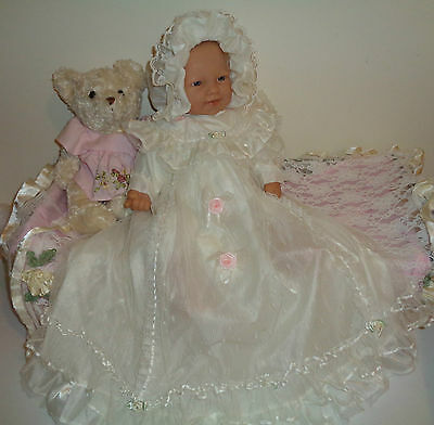 "Pretty Rarer ""shy Face"" Berenguer Baby, Vintage Outfit, 50 Cm"