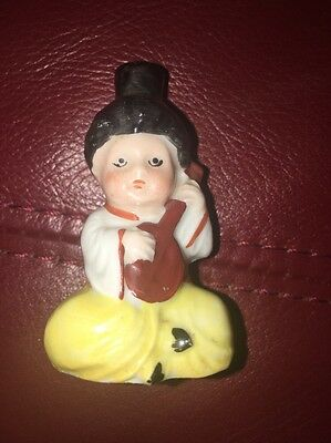 Vintage German Goebel? Crown Top Porcelain Figural Perfume Scent Bottle Arab Boy