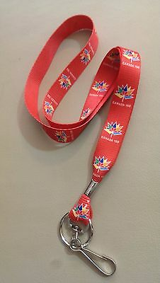 Canada 150 Red Lanyard with clip & separate key ring!