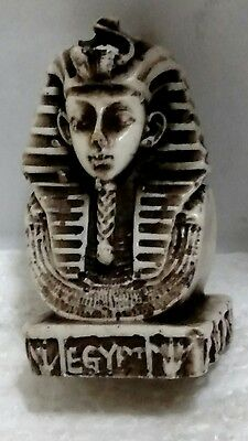 Egyptian Statue, King Tutankhamun Carved Natural Stone,  Read Description