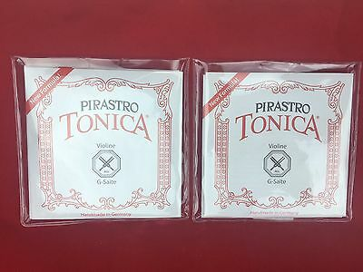 ***Sale 2 x Made in German Tonica Violin String Set 4/4 Steel Ball E End