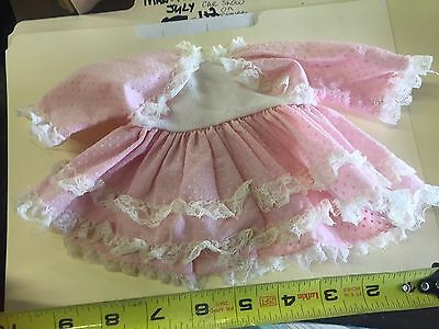 Vintage Doll Dress Pink Lace Ginny tagged Vogue clothes polka dots