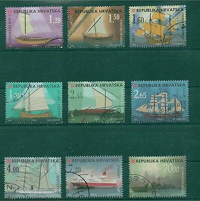 Croatia 1998 Croatia ships complete set of 9 used stamps, Cat. value over $20