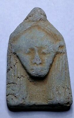 Egyptian Pharaoh Amulet, Ushabti, Faience Amulet 45 mm,  see description