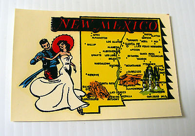 Vintage travel CAR DECAL sticker souvenir NEW MEXICO Goldfarb novelty Impko