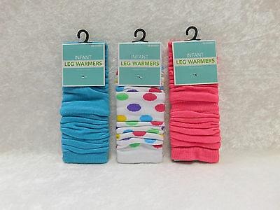 LOT of 3 Pairs Infant Baby Leg Warmers