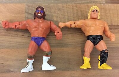 WWF WWE Hasbro x 2 wrestling rivalries figures Gregg The Hammer & Macho Man