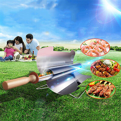 Hot Smokeless Portable Stove Solar Cooker Oven Cooking Camping Outdoor BBQ Grill