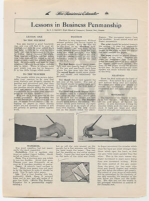 "1925 JJ Bailey ""Lesson 1, Business Writing"" Lupfer Business Educator Collection"
