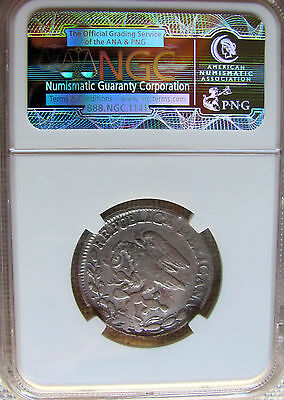 1824 Mo JM Mexico 2 Reales NGC KM-373.4 *VG DETAILS* ( Hook Neck )
