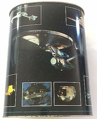 Star Trek Vintage Metal Wastebasket The Motion Picture 1979 Paramount Pictures