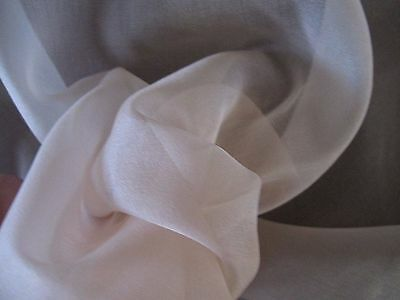 Antique Blush Pink Silk Organdy Fabric Remnant For Doll Clothes~Pleated Trim