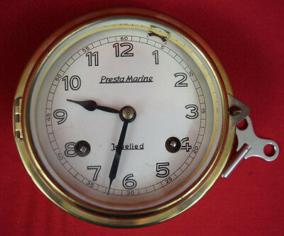 Vintage GERMANY PRESTA MARINE SHIP CLOCK BRASS