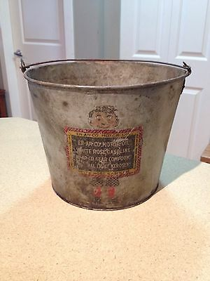 Enarco / White Rose 25lb Grease / oil Can Collectible Vintage 1930's