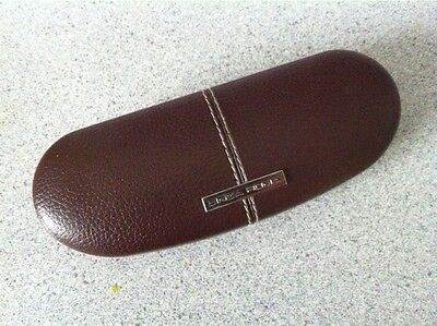 Linea Roma Brown Faux Leather Sunglasses Glasses Eyeglasses Case Only