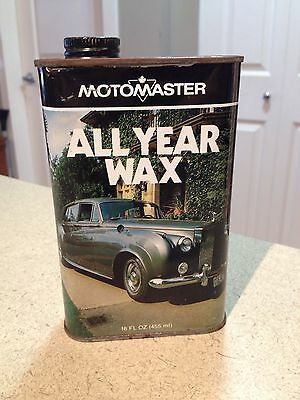 Motormaster Wax Tin 16 Oz Very Rare Rolls Royce Image! Vintage Collectible CT