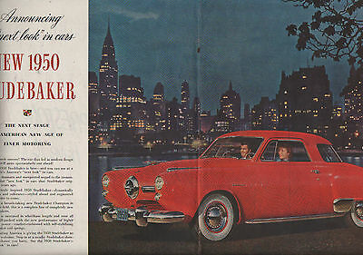 1950 Studebaker 2 page centerfold car ad-no attaching-90