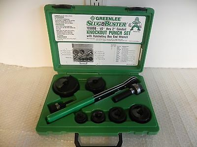"""NEW Greenlee 7238SB knockout set 1/2"""" - 2"""" made in USA. NICE 767,746,7310,7306"""